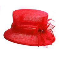 Red ladies hat